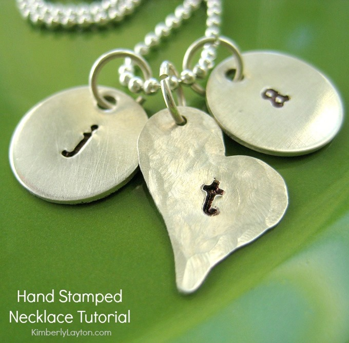 DIY Hand Stamped Necklace Tutorial by Kimberly Layton