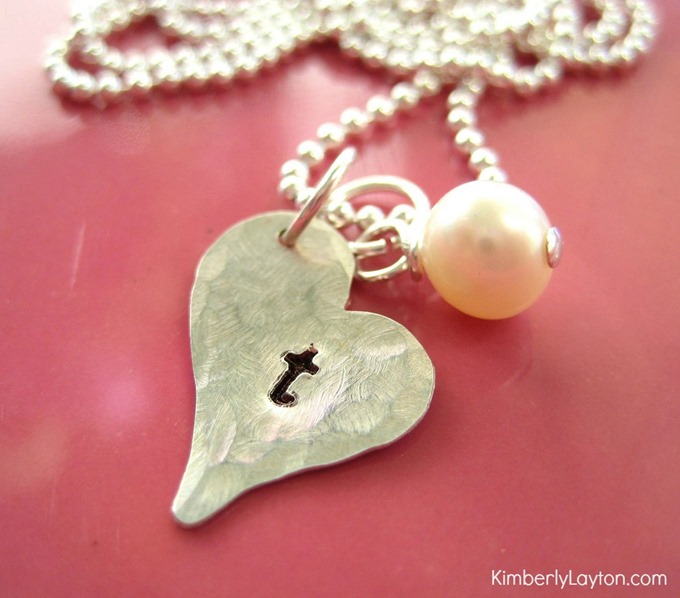 DIY Tutorial for Hand Stamped Jewelry by Kimberly Layton