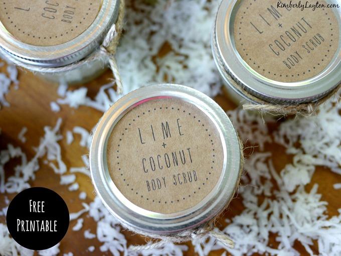Free Lim & Coconut Body Scrub Printable
