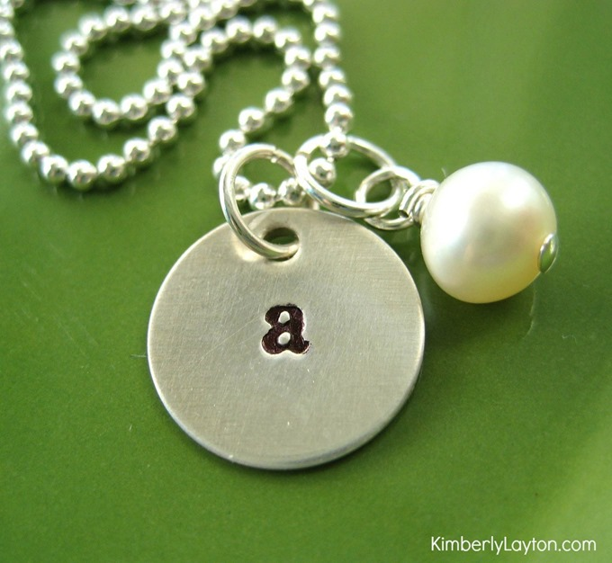 Hand Stamped Necklace Tutorial by Kimberly Layton