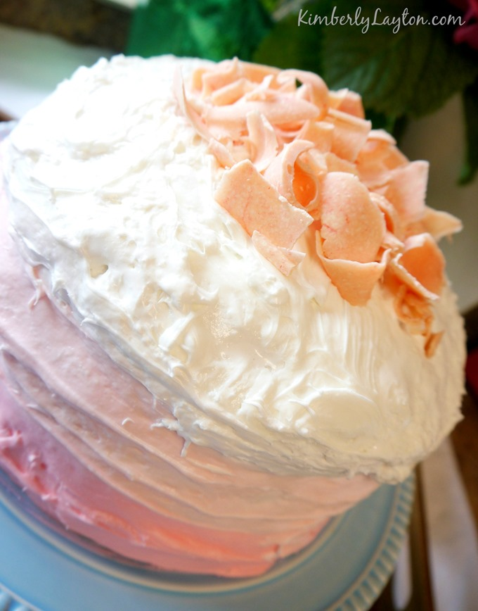 Pink Layered Cake by Kimberly Layton