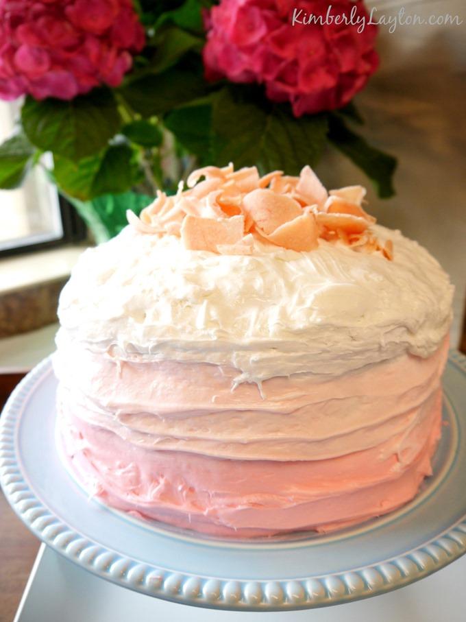 Pink Layered Cake on KimberlyLayton.com