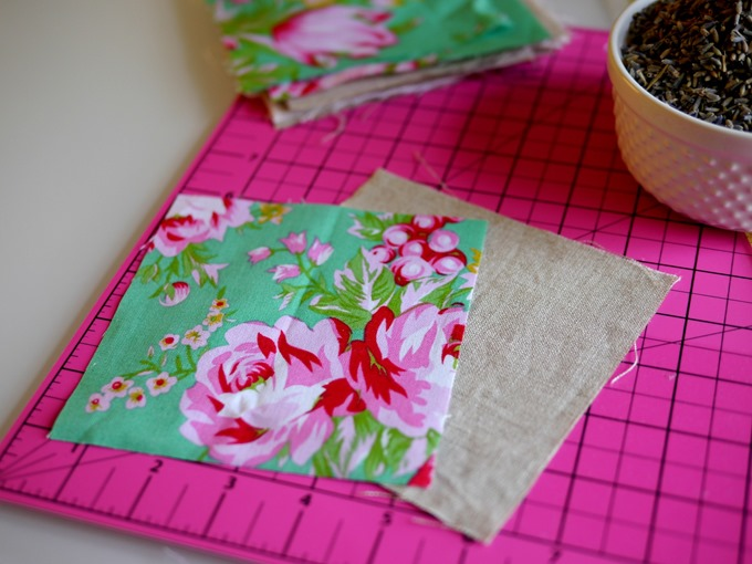 making lavender sachets by Kimberly Layton
