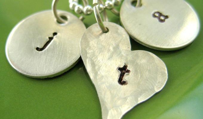 DIY Hand Stamped Necklace