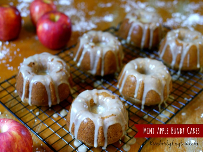 Mini Apple Bundt Cake Recipe from KimberlyLayton.com