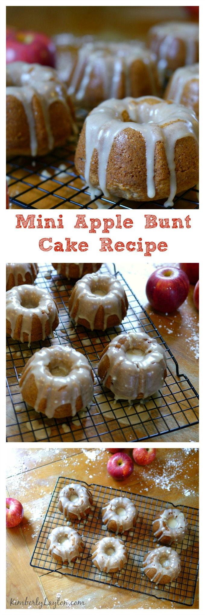 Mini Apple Bundt Cake Recipe on KimberlyLayton.com