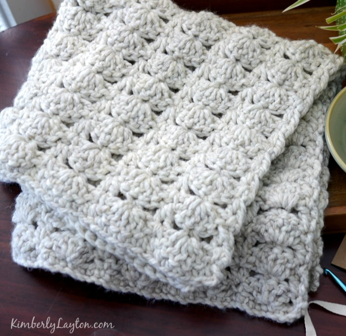 Double Crochet Baby Blanket Pattern images