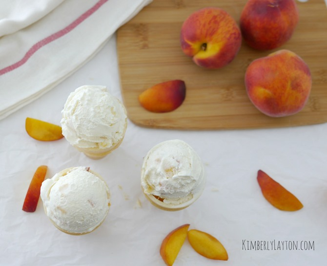 Peach Ice Cream on KimberlyLayton.com