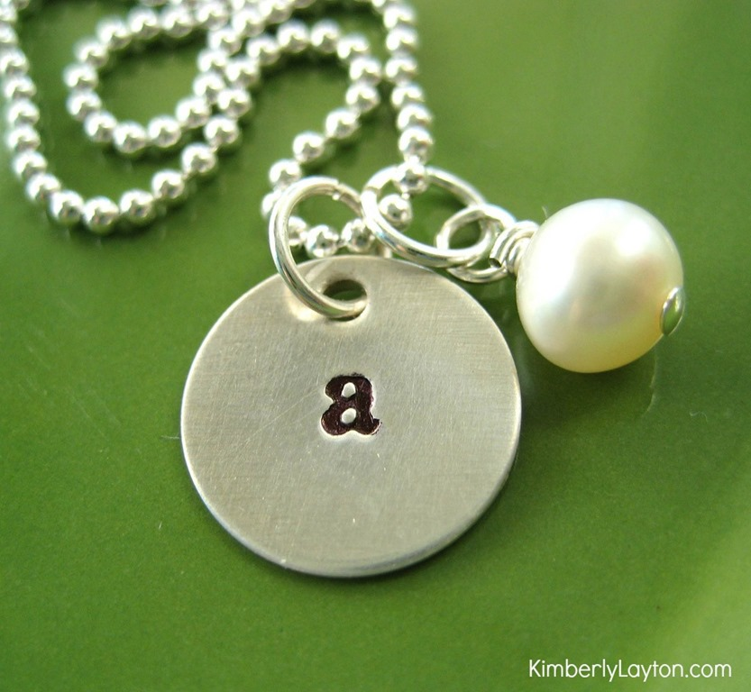 how to make stamped necklaces